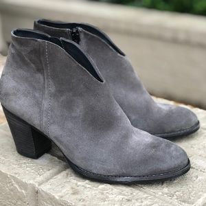 Paul Green grey suede ankle boots shoes booties